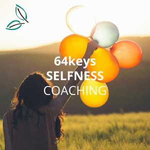 64keys Selfness Coaching - Frau mit Luftballons