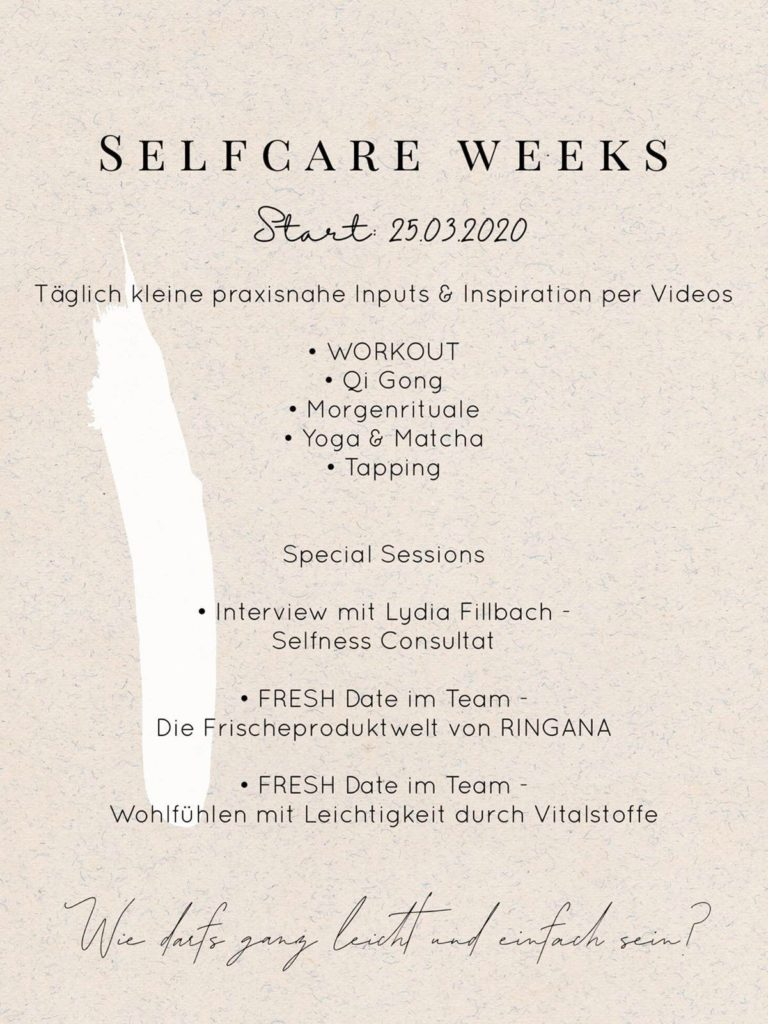 Selfcare Weeks Start 25.03.2020
