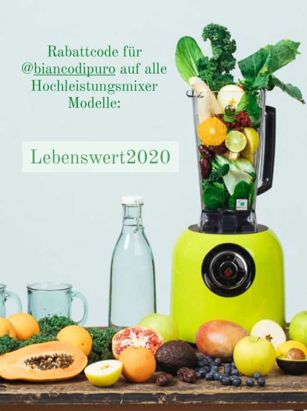 Hochleistungsmixer Bianco di Puro - Rabattcode: Lebenswert2020